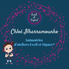 Logo réseaux sociaux animatrice Chloé